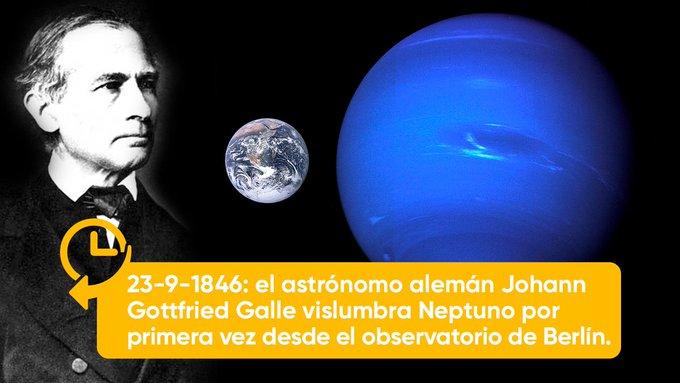 1910: Fallece Johann Gottfried Galle conocido por descubrir Neptuno