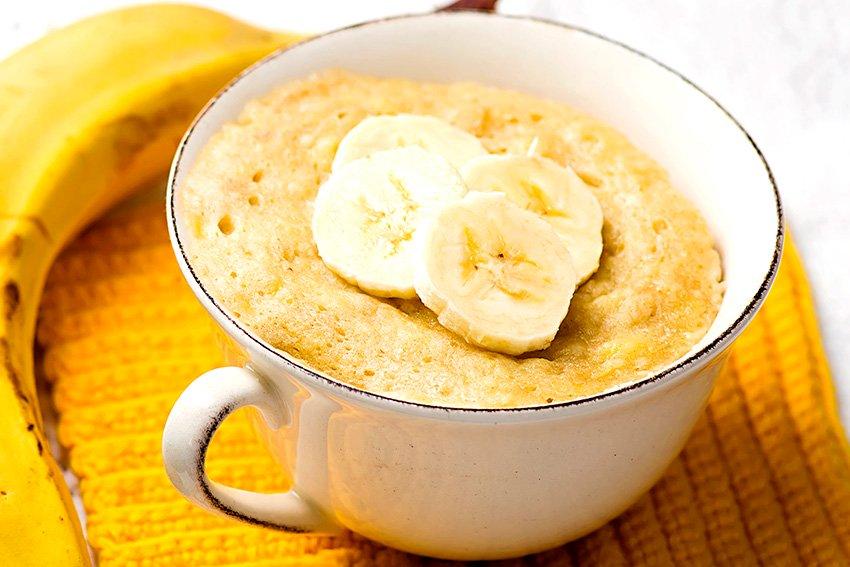 Conoce la forma perfecta de preparar un rico Mug Cake de plátano y avena