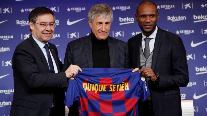 Quique Setién continuará con el Barcelona para la próxima temporada