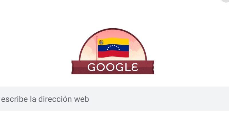 """Google se une a celebración de la independencia de Venezuela con un """"doodle"""""""