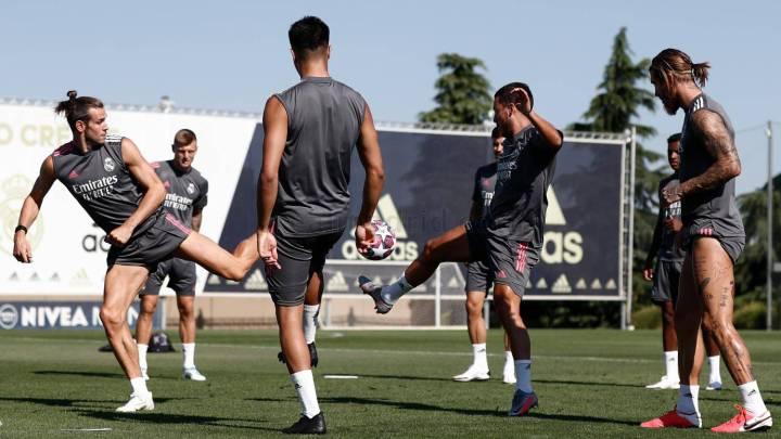 Real Madrid termina el último entrenamiento antes de partir a Manchester City