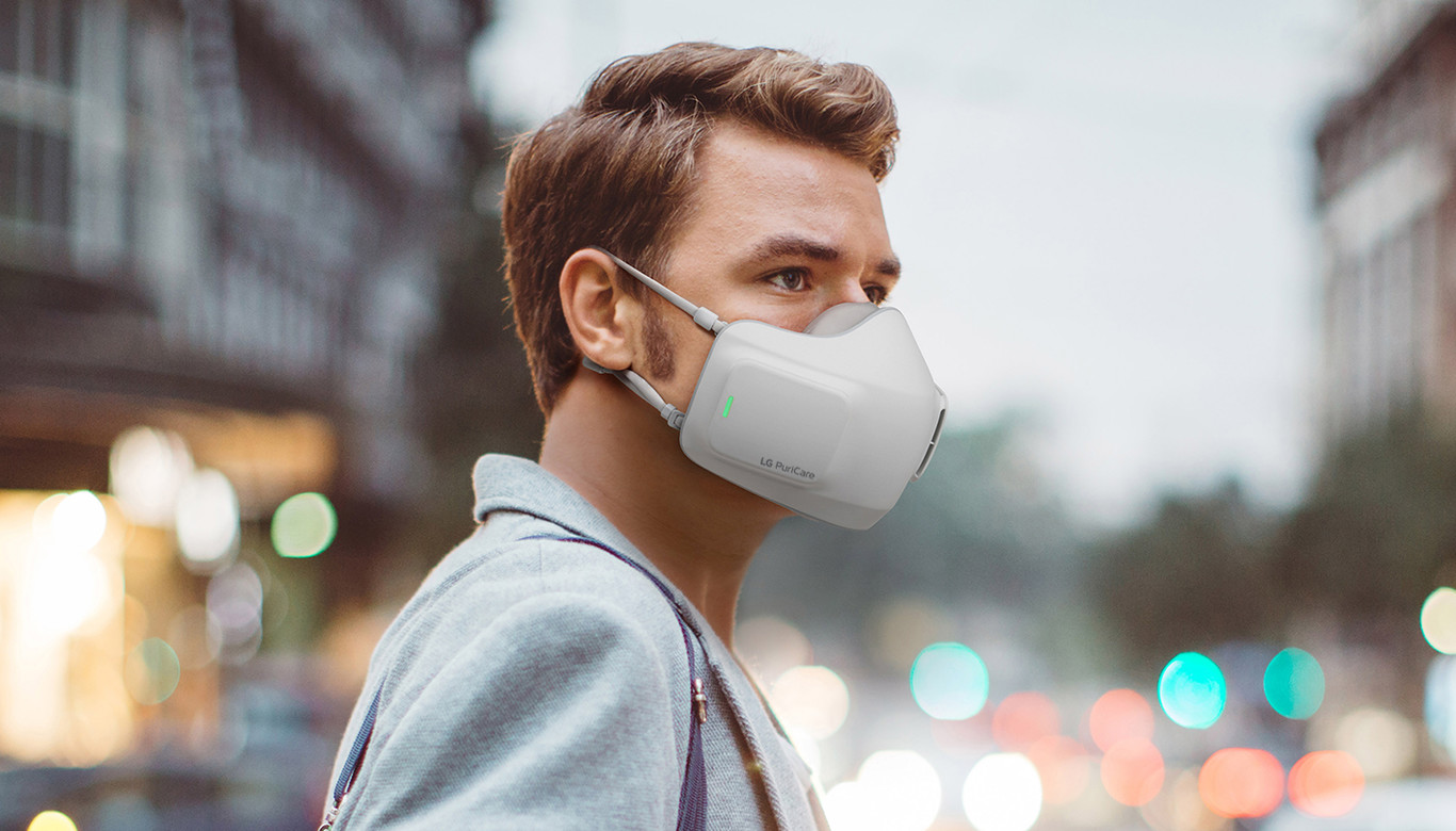 LG crea una mascarilla que purifica el aire