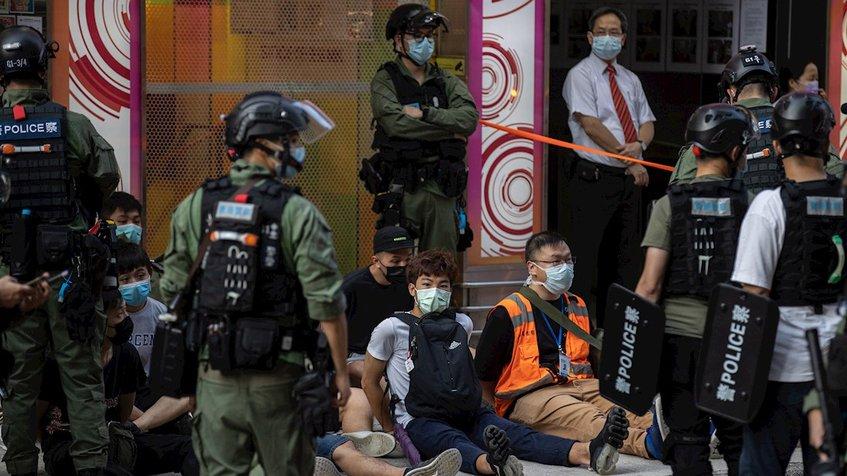 Detienen en protesta en Hong Kong a 280 personas
