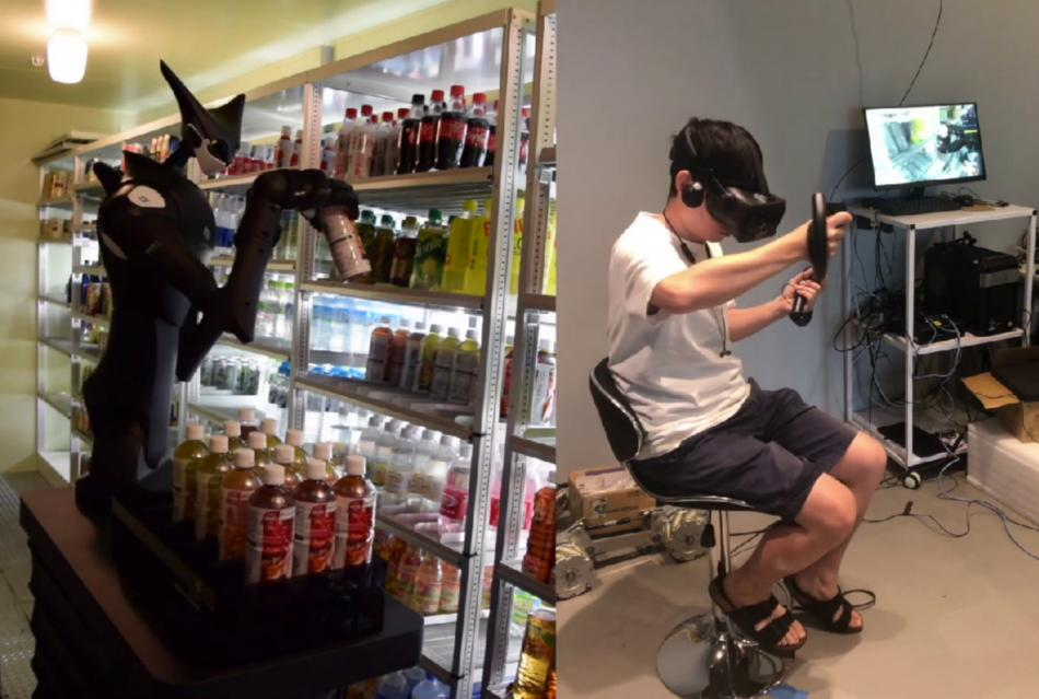 Compañía japonesa crea robot manejado por realidad virtual