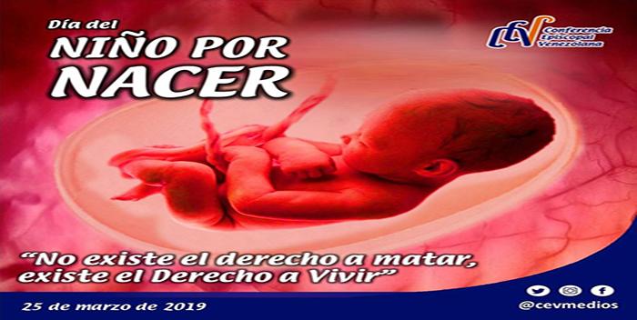 Cada 25 de marzo celebramos el Día del Niño por Nacer